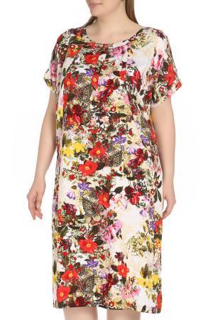 Платье Amazone. Цвет: красный, белый