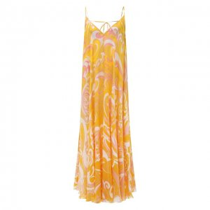 Шелковое платье Emilio Pucci. Цвет: жёлтый