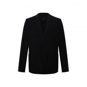 Пиджак из хлопка и льна Transit. Цвет: чёрный