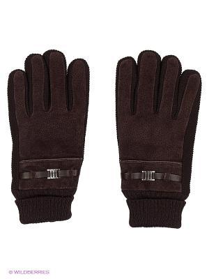 Перчатки Finn Flare. Цвет: темно-коричневый
