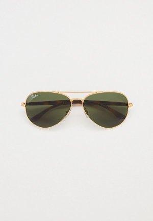 Очки солнцезащитные Ray-Ban® RB3675 001/31. Цвет: золотой