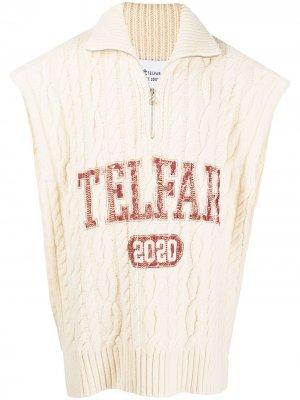 Пуловер с логотипом Telfar. Цвет: нейтральные цвета