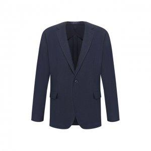 Льняной пиджак Ralph Lauren. Цвет: синий