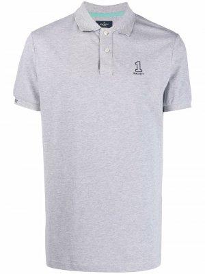 Рубашка поло Number 1 с логотипом Hackett. Цвет: серый