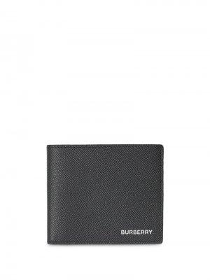 Фактурный бумажник Burberry. Цвет: черный