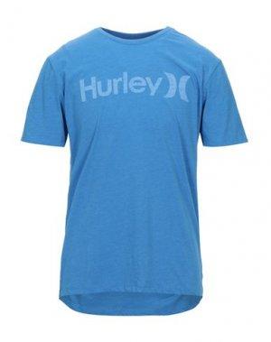 Футболка HURLEY. Цвет: лазурный