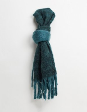 Синий шарф с кисточками -Голубой French Connection