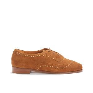 Ботинки-дерби кожаные LA POINTILLEUSE BOBBIES. Цвет: темно-бежевый