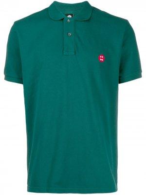 Рубашка-поло из ткани пике Aspesi. Цвет: зеленый