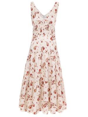 Платье хлопковое с принтом LAROOM