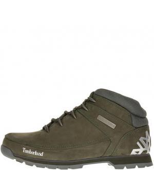 Замшевые ботинки с принтом Euro Sprint Hiker Timberland. Цвет: хаки