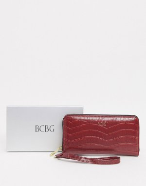 Кошелек с тиснением под крокодиловую кожу -Красный BCBGeneration