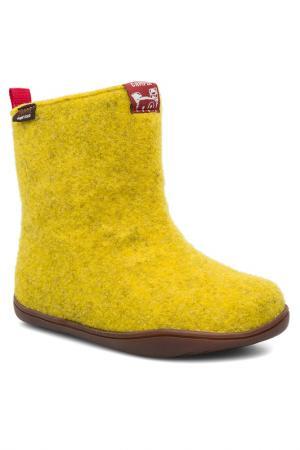 Валенки CAMPER. Цвет: желтый