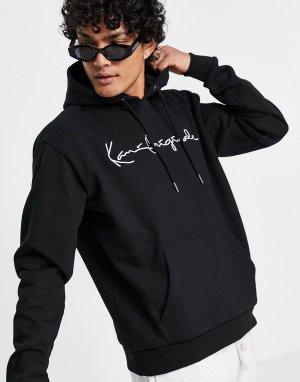 Худи черного цвета originals-Черный цвет Karl Kani