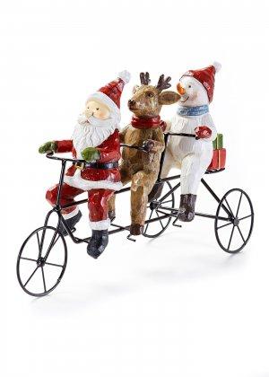 Декоративный велосипед Cанта и друзья bonprix. Цвет: красный