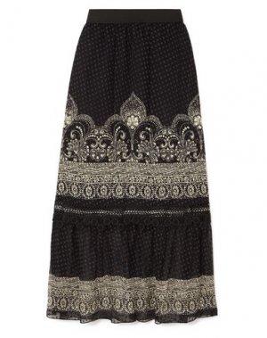 Длинная юбка ANNA SUI. Цвет: черный