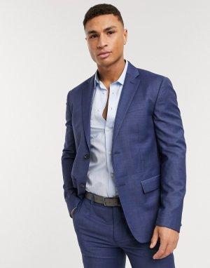 Пиджак из эластичной ткани -Синий Calvin Klein