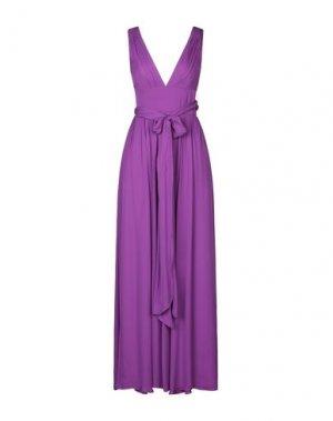 Длинное платье HALSTON. Цвет: фиолетовый