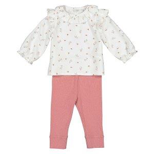 Комплект из 2 вещей блуза LaRedoute. Цвет: бежевый