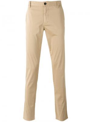 Классические брюки чинос Armani Jeans. Цвет: телесный