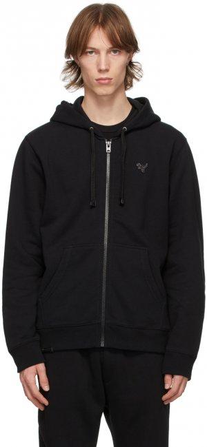 Black Fleece Essential Zip-Up Hoodie Coach 1941. Цвет: black