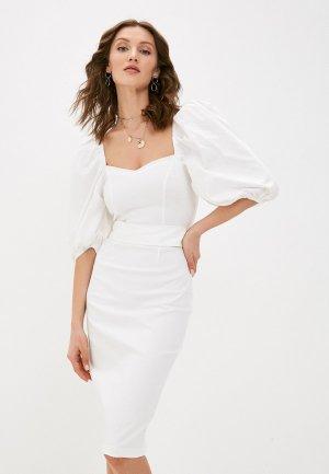 Платье Love Republic Exclusive online. Цвет: белый