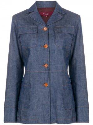 Джинсовая куртка строгого кроя Sies Marjan. Цвет: синий