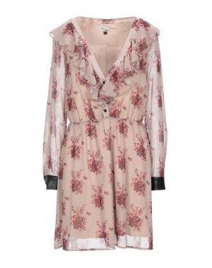 Короткое платье PLEASE. Цвет: светло-коричневый