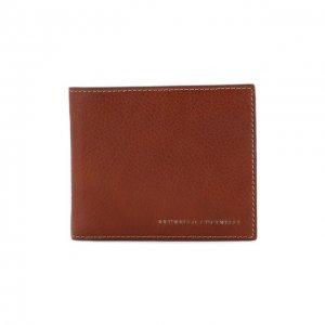 Кожаное портмоне Brunello Cucinelli. Цвет: коричневый