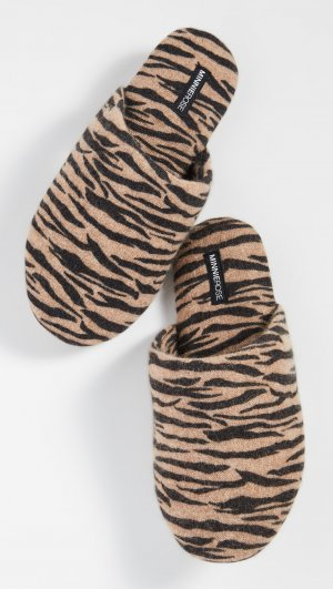 Tiger Cashmere Slippers Minnie Rose