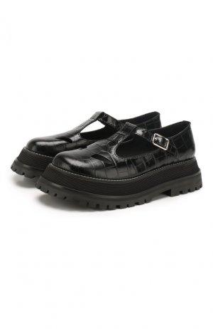 Кожаные сандалии Burberry. Цвет: черный