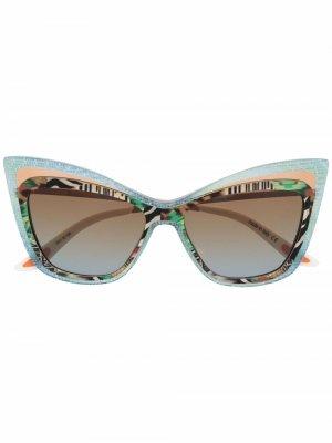 Солнцезащитные очки с эффектом градиента Christian Roth. Цвет: синий