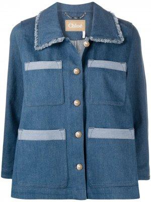 Джинсовая куртка-рубашка Chloé. Цвет: синий
