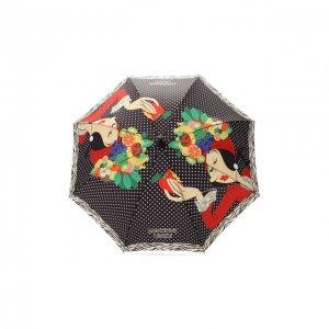 Зонт-трость с принтом Moschino. Цвет: разноцветный