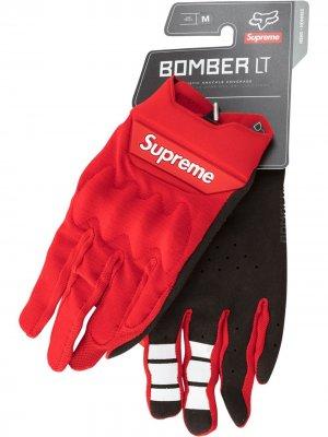 Перчатки Fox Racing Bomber LT Supreme. Цвет: красный