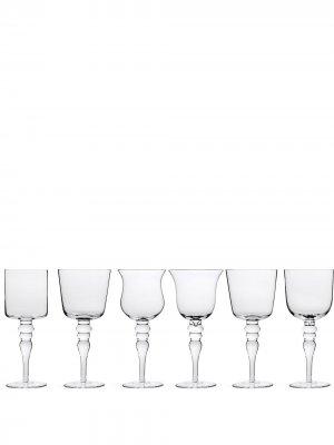 Шесть бокалов для вина Bitossi Home. Цвет: нейтральные цвета