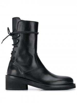 Ботинки на шнуровке сзади Ann Demeulemeester. Цвет: черный