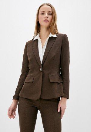 Пиджак MadaM T. Цвет: коричневый