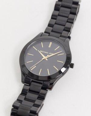 Черные наручные часы MK3221 Runway-Черный Michael Kors