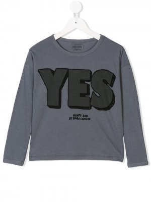 Long-sleeve printed T-shirt Bobo Choses. Цвет: синий