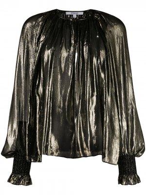 Блузка Helena с плиссировкой Derek Lam 10 Crosby. Цвет: черный