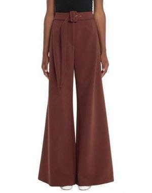 Повседневные брюки SUOLI. Цвет: какао