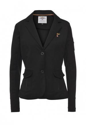 Пиджак Aeronautica Militare AE003EWPQS49. Цвет: черный