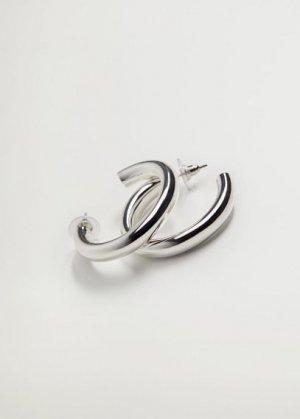 Серьги-кольца - Golfo Mango. Цвет: серебро