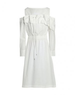 Платье длиной 3/4 CHALAYAN. Цвет: белый