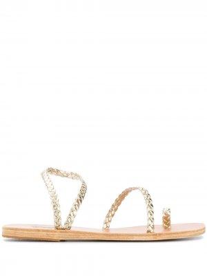 Плетеные сандалии Eleftheria Ancient Greek Sandals. Цвет: золотистый