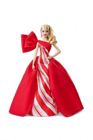 Holiday 2019 Блондинка Barbie. Цвет: красный, бежевый
