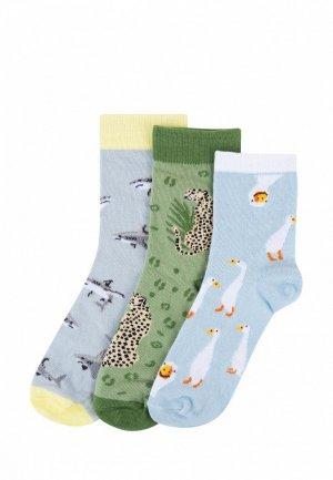 Носки 3 пары Kawaii Factory. Цвет: разноцветный