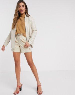 Свободные шорты -Коричневый цвет b.Young