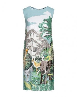 Платье до колена CLIPS. Цвет: небесно-голубой
